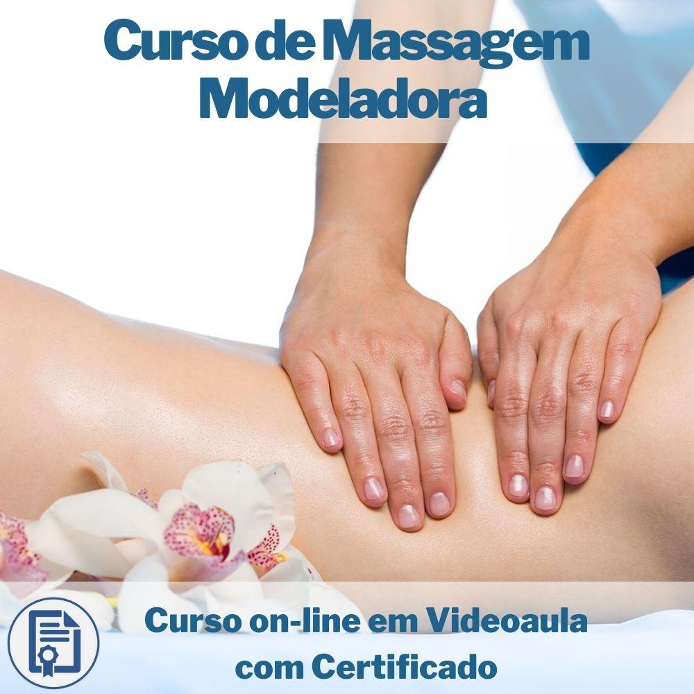 Curso on-line em videoaula de Massagem Modeladora com Certificado