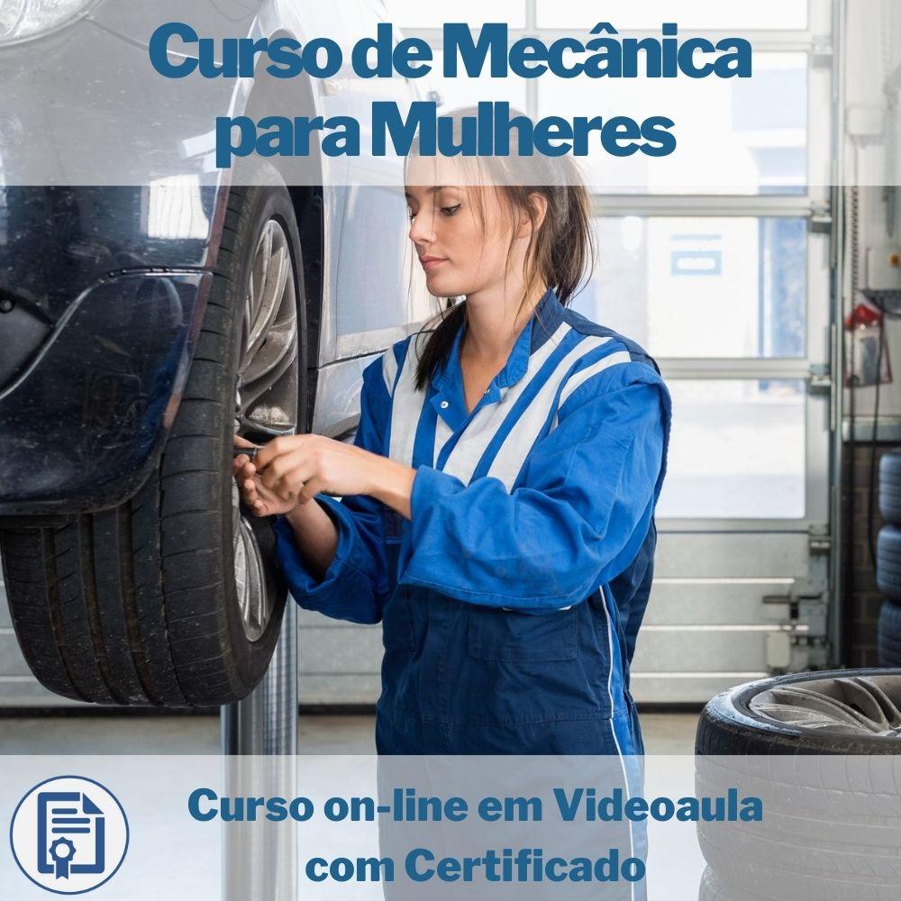 Curso on-line em videoaula de mecânica para mulheres com Certificado