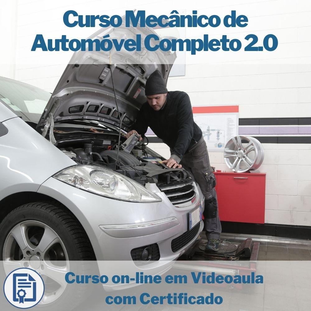 Curso on-line em videoaula de Mecânico de Automóvel Completo 2.0 com Certificado