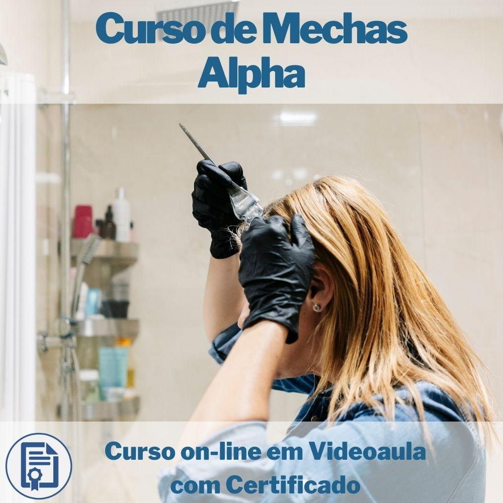 Curso on-line em videoaula de Mechas Alpha com Certificado