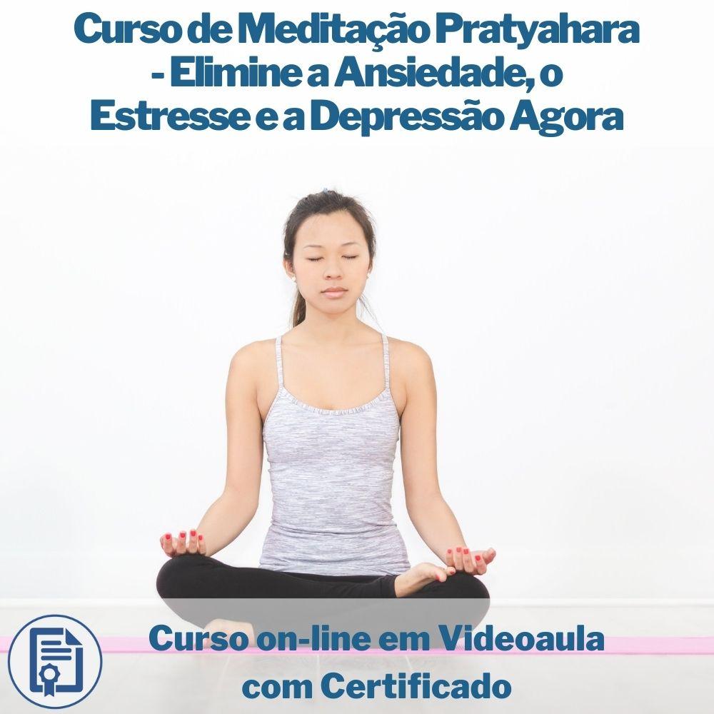 Curso on-line em videoaula de Meditação Pratyahara - Elimine a Ansiedade, o Estresse e a Depressão Agora com Certificado