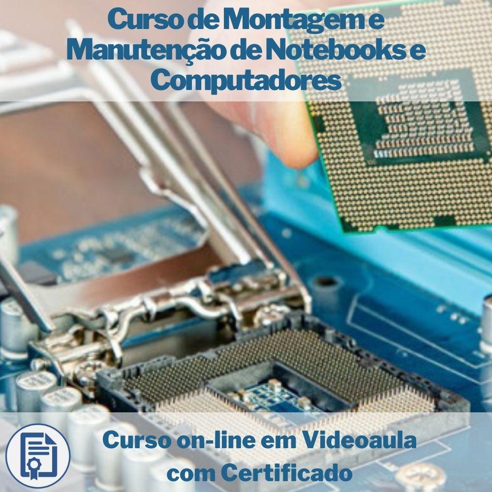 Curso on-line em videoaula de Montagem e Manutenção de Notebooks e Computadores com Certificado