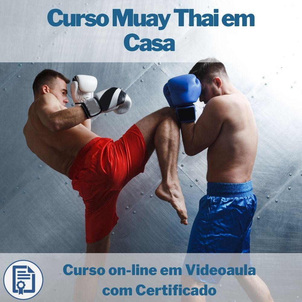 Curso on-line em videoaula de Muay Thai em Casa com Certificado