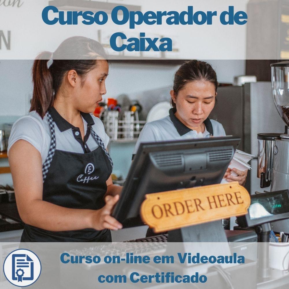 Curso on-line em videoaula de Operador de Caixa com Certificado