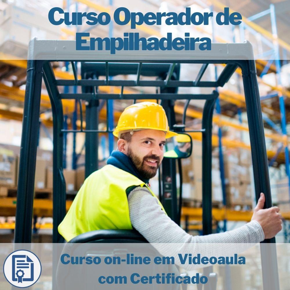 Curso on-line em videoaula de Operador de Empilhadeira com Certificado