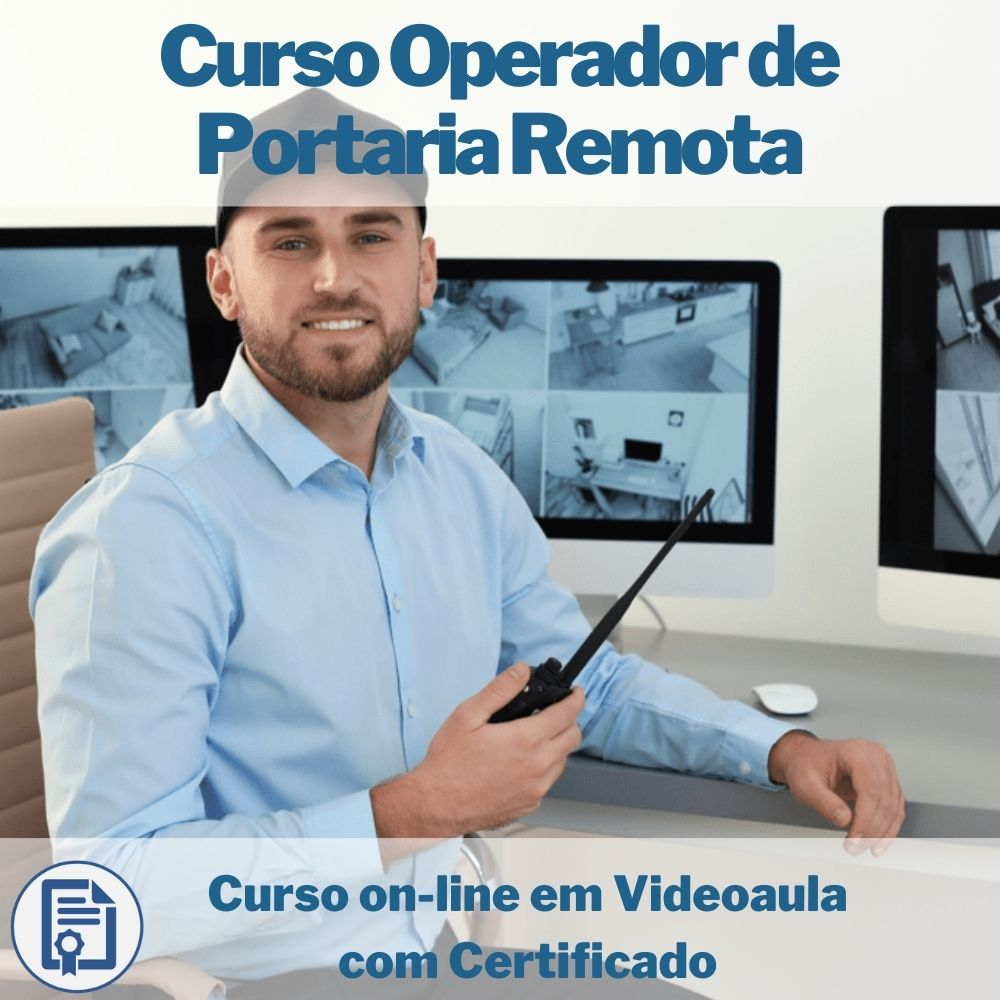 Curso on-line em videoaula de Operador de Portaria Remota com Certificado