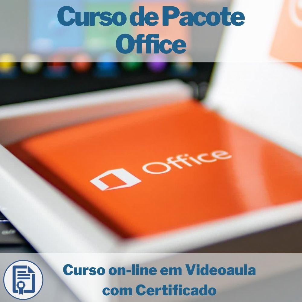 Curso on-line em videoaula de Pacote Office com Certificado