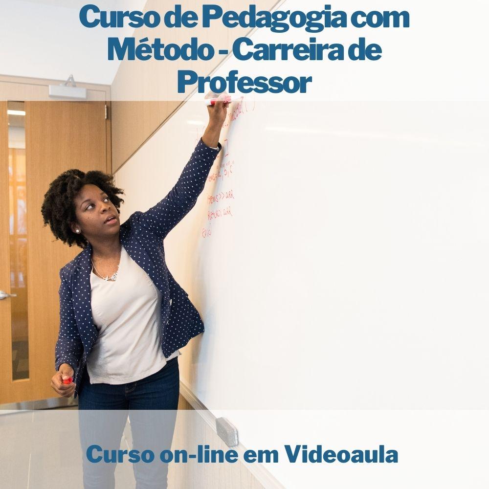 Curso on-line em videoaula de Pedagogia com Método - Carreira de Professor  - Aprova Cursos