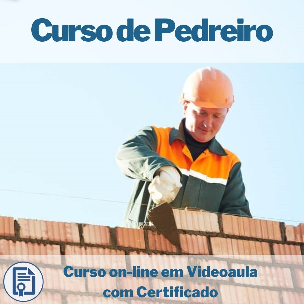 Curso on-line em videoaula de Pedreiro com Certificado