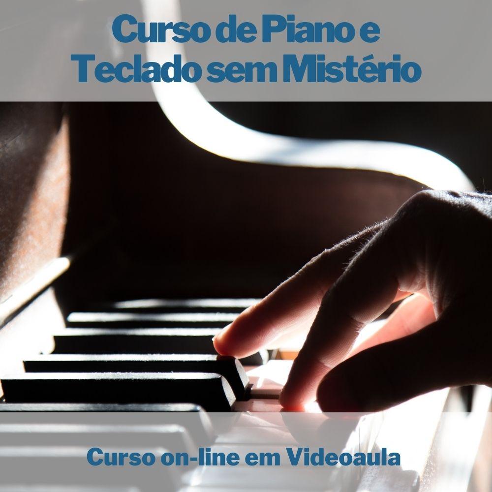 Curso on-line em videoaula de Piano e Teclado sem Mistério