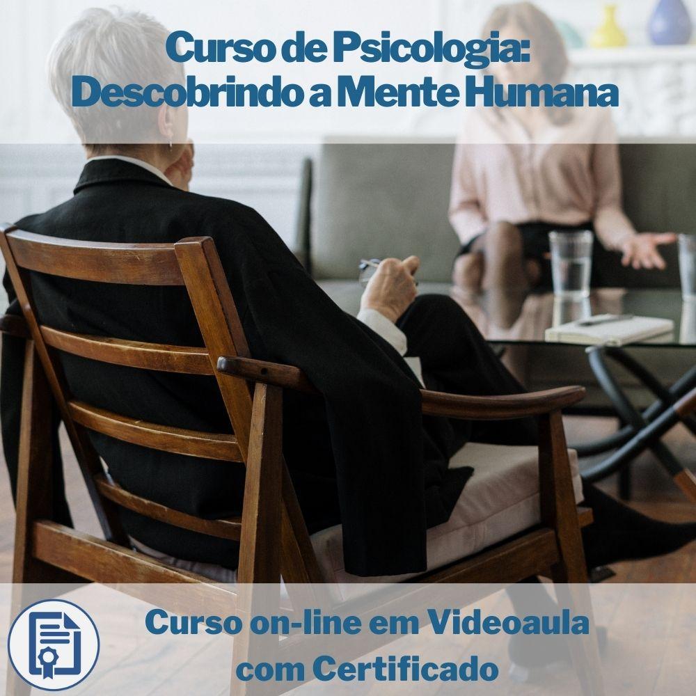 Curso on-line em videoaula de Psicologia Descobrindo a Mente Humana com Certificado