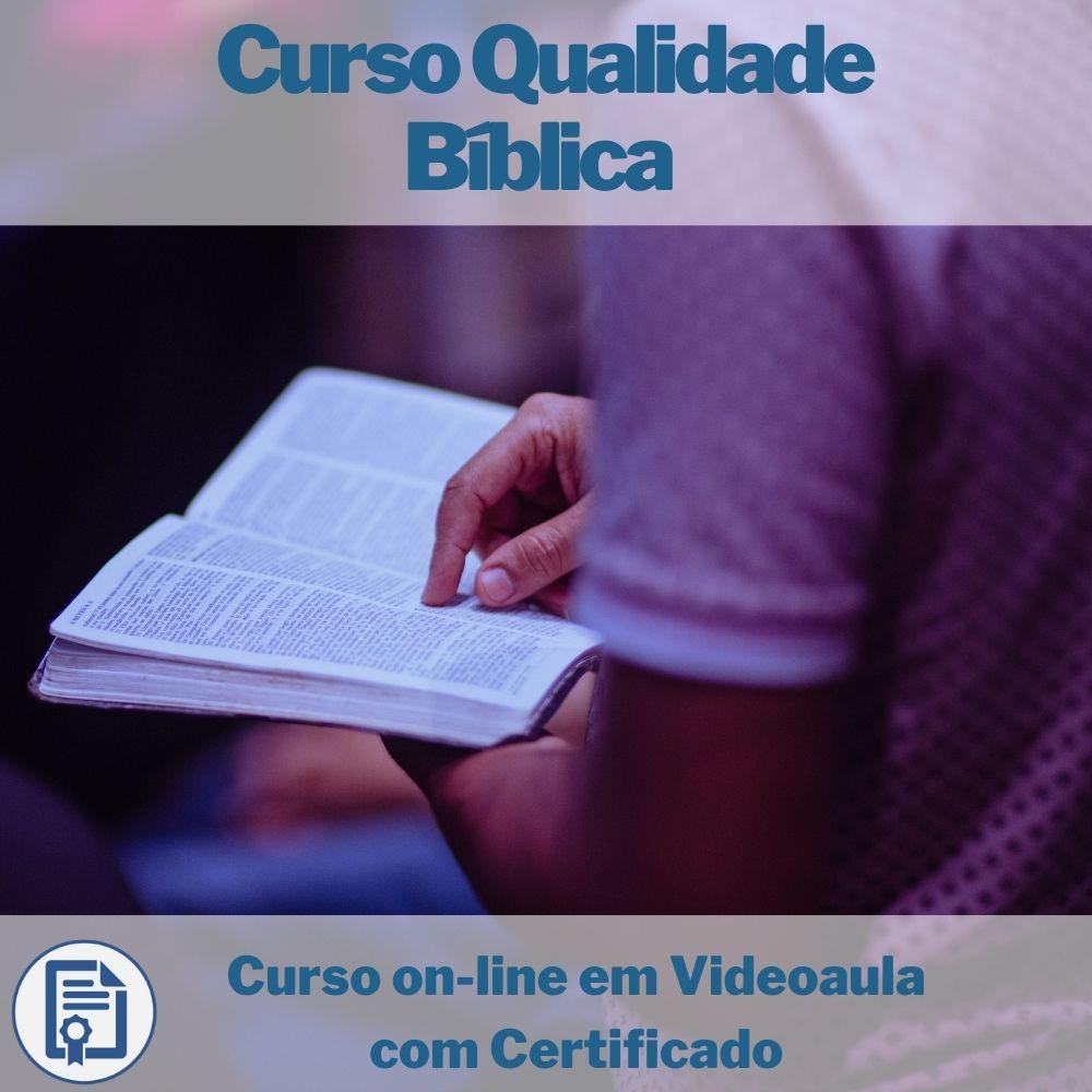 Curso on-line em videoaula de Qualidade Bíblica com Certificado