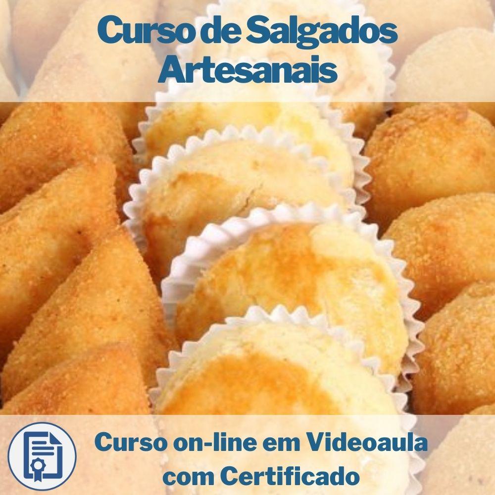 Curso on-line em videoaula de Salgados Artesanais com Certificado