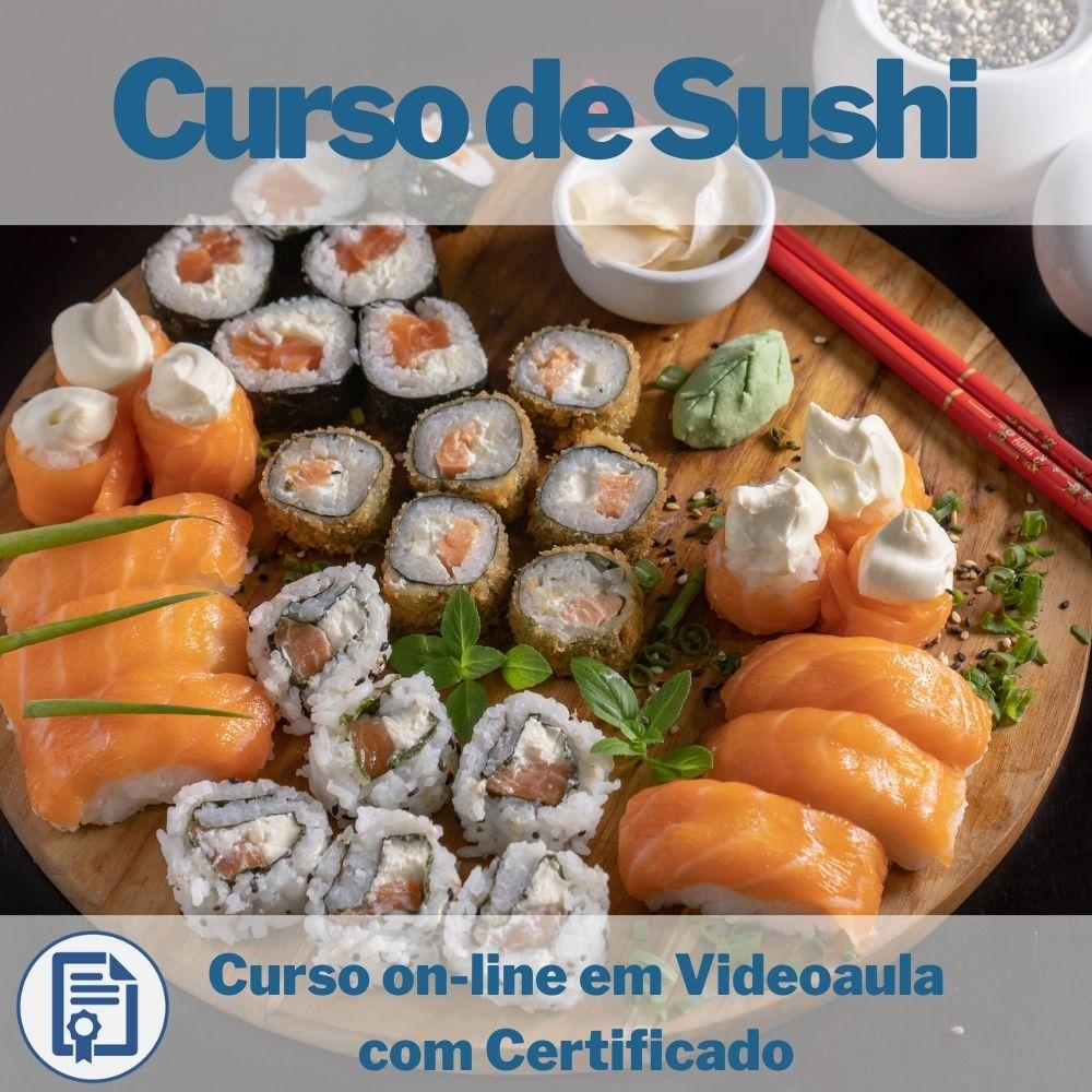 Curso on-line em videoaula de Sushi com Certificado