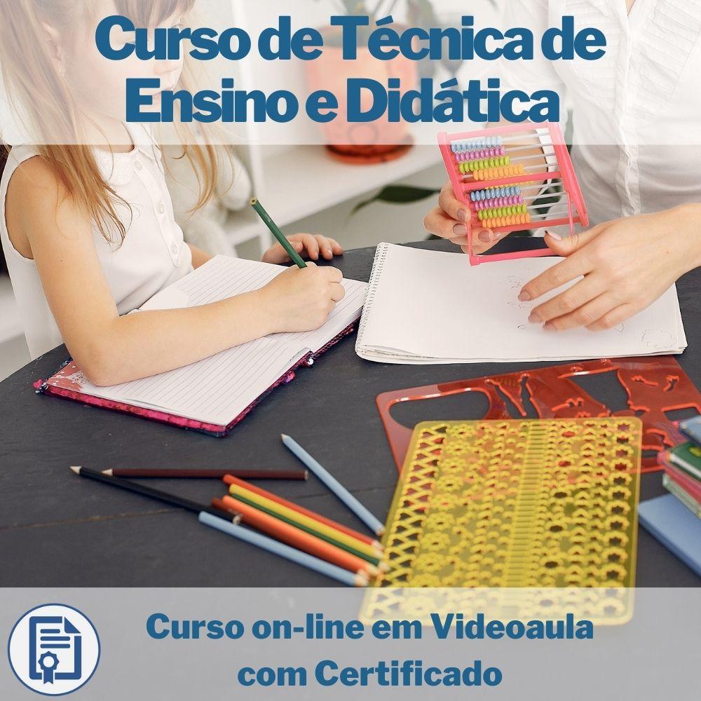 Curso on-line em videoaula de Técnica de Ensino e Didática com Certificado