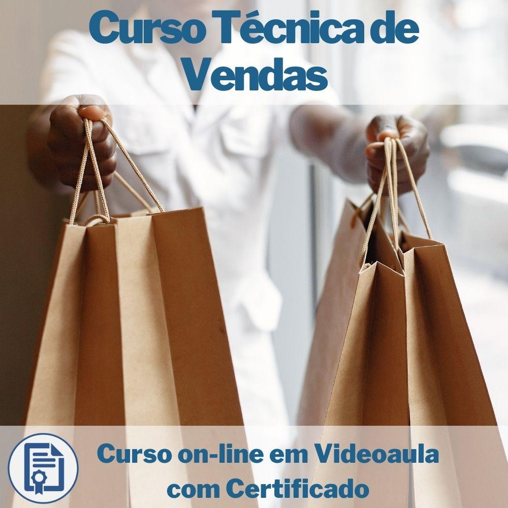 Curso on-line em videoaula de Técnica de Vendas com Certificado