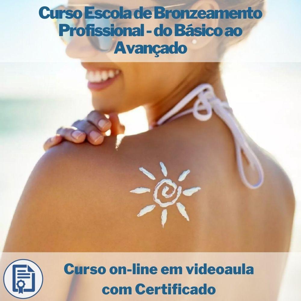 Curso on-line em videoaula Escola de Bronzeamento Profissional - do Básico ao Avançado com Certificado