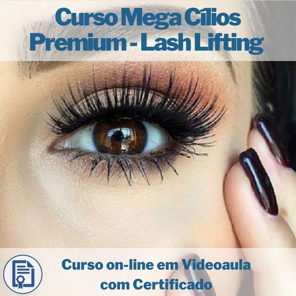 Curso on-line em videoaula Mega Cílios Premium - Lash Lifting com Certificado