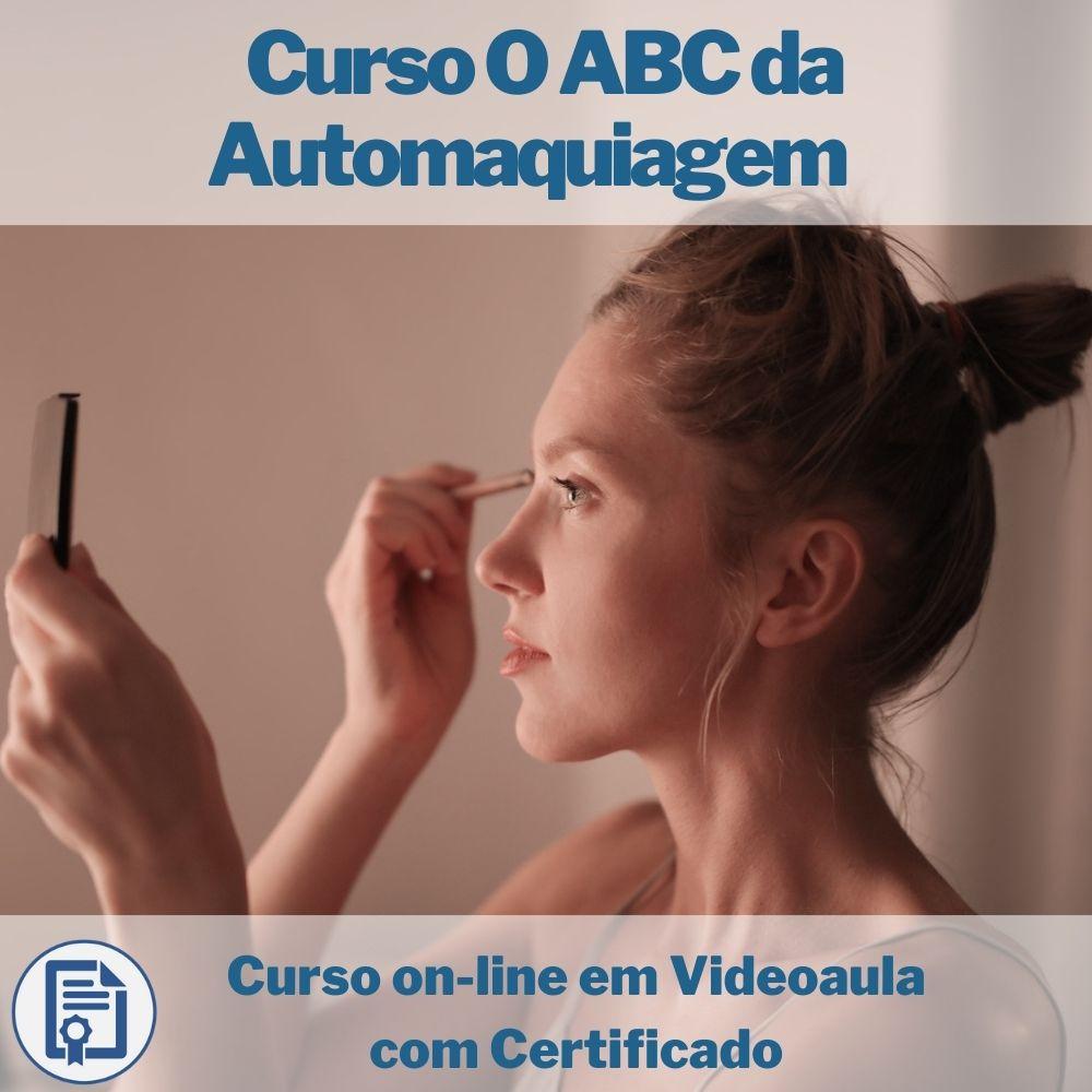 Curso on-line em videoaula O ABC da Automaquiagem com Certificado