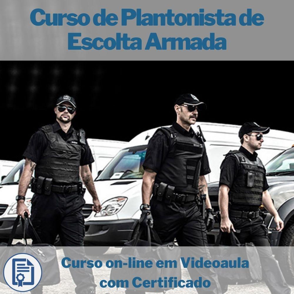 Curso on-line em videoaula Plantonista de Escolta Armada com Certificado