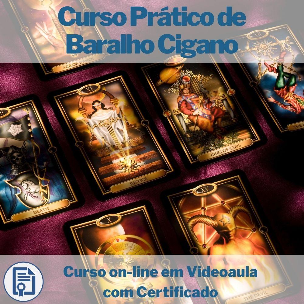 Curso on-line em videoaula Prático de Baralho Cigano com Certificado