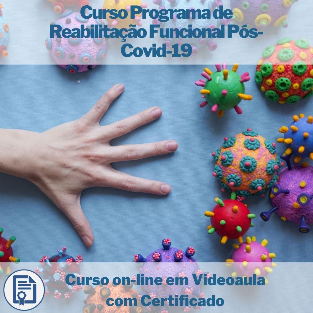 Curso on-line em videoaula Programa de Reabilitação Funcional Pós-Covid-19 com Certificado