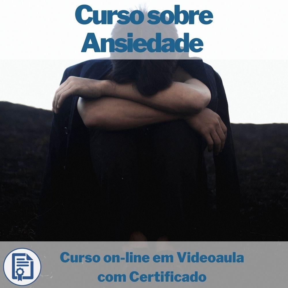 Curso on-line em videoaula sobre Ansiedade com Certificado