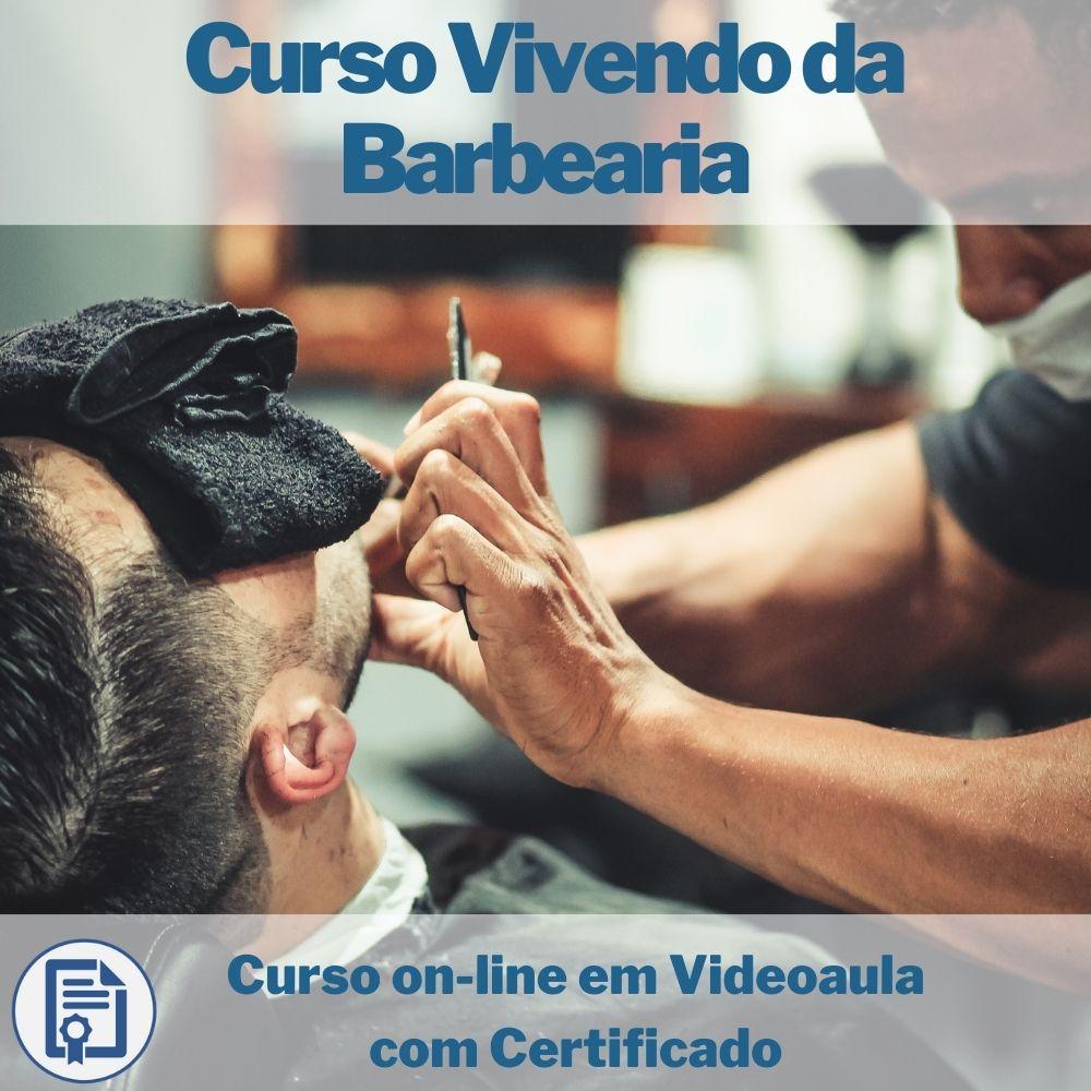 Curso on-line em videoaula Vivendo da Barbearia com Certificado