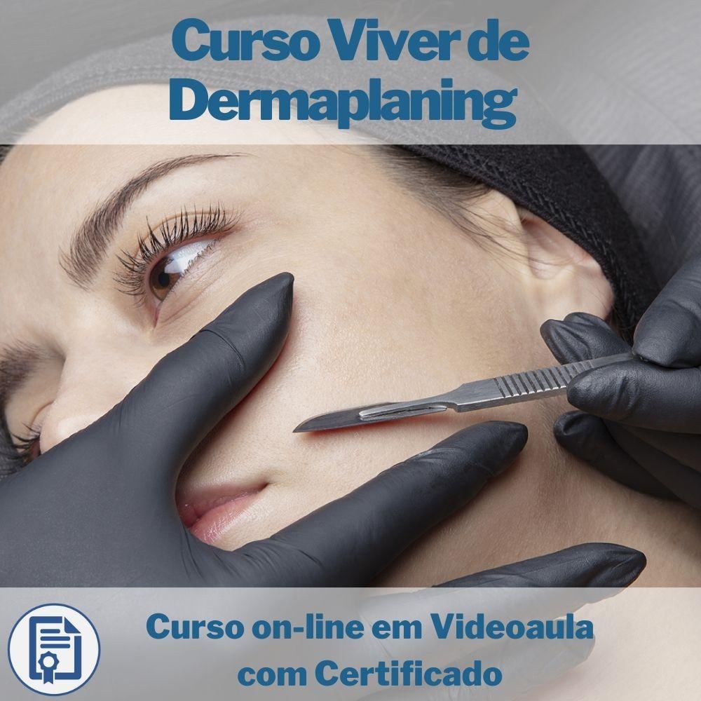 Curso on-line em videoaula Viver de Dermaplaning com Certificado  - Aprova Cursos
