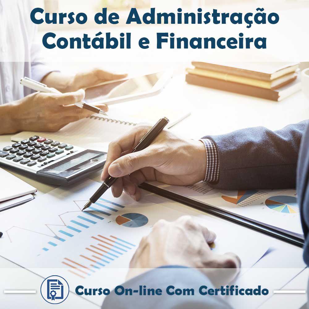 Curso online de Administração Contábil e Financeira + Certificado