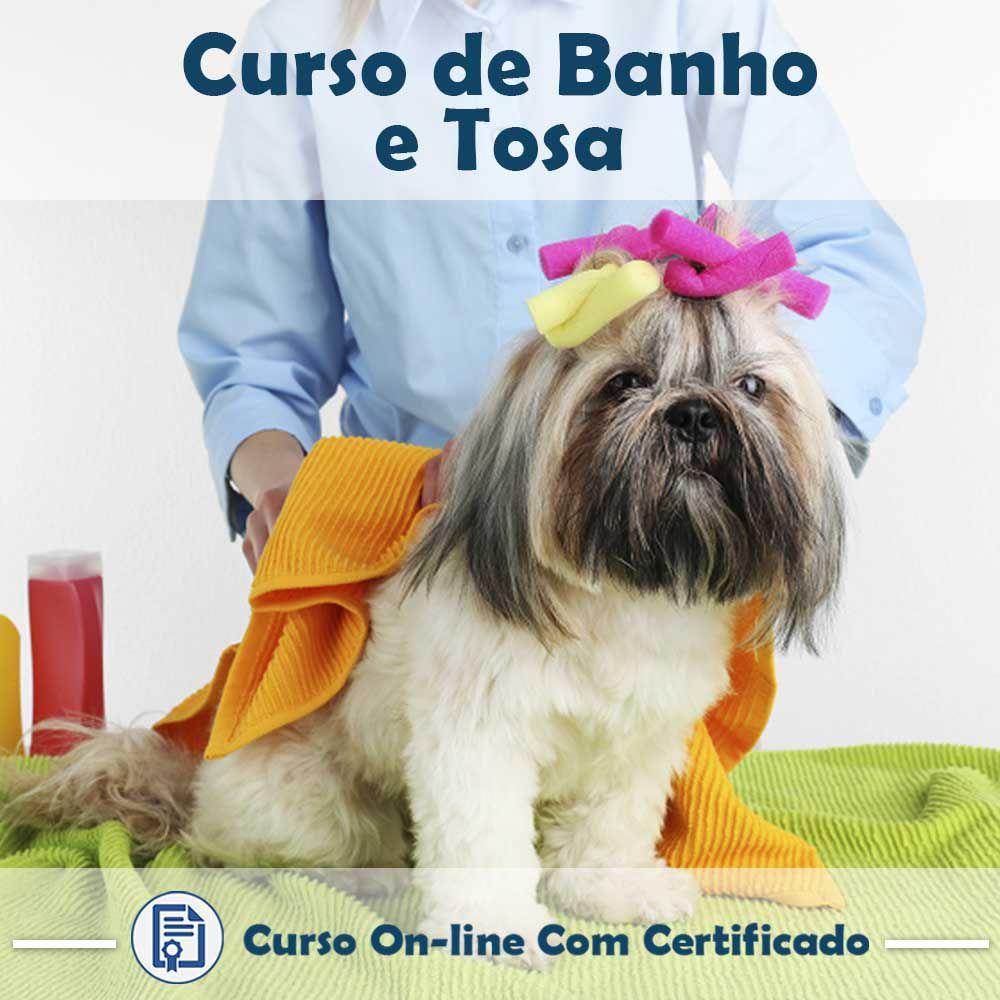 Curso Online de Banho e Tosa com Certificado  - Aprova Cursos