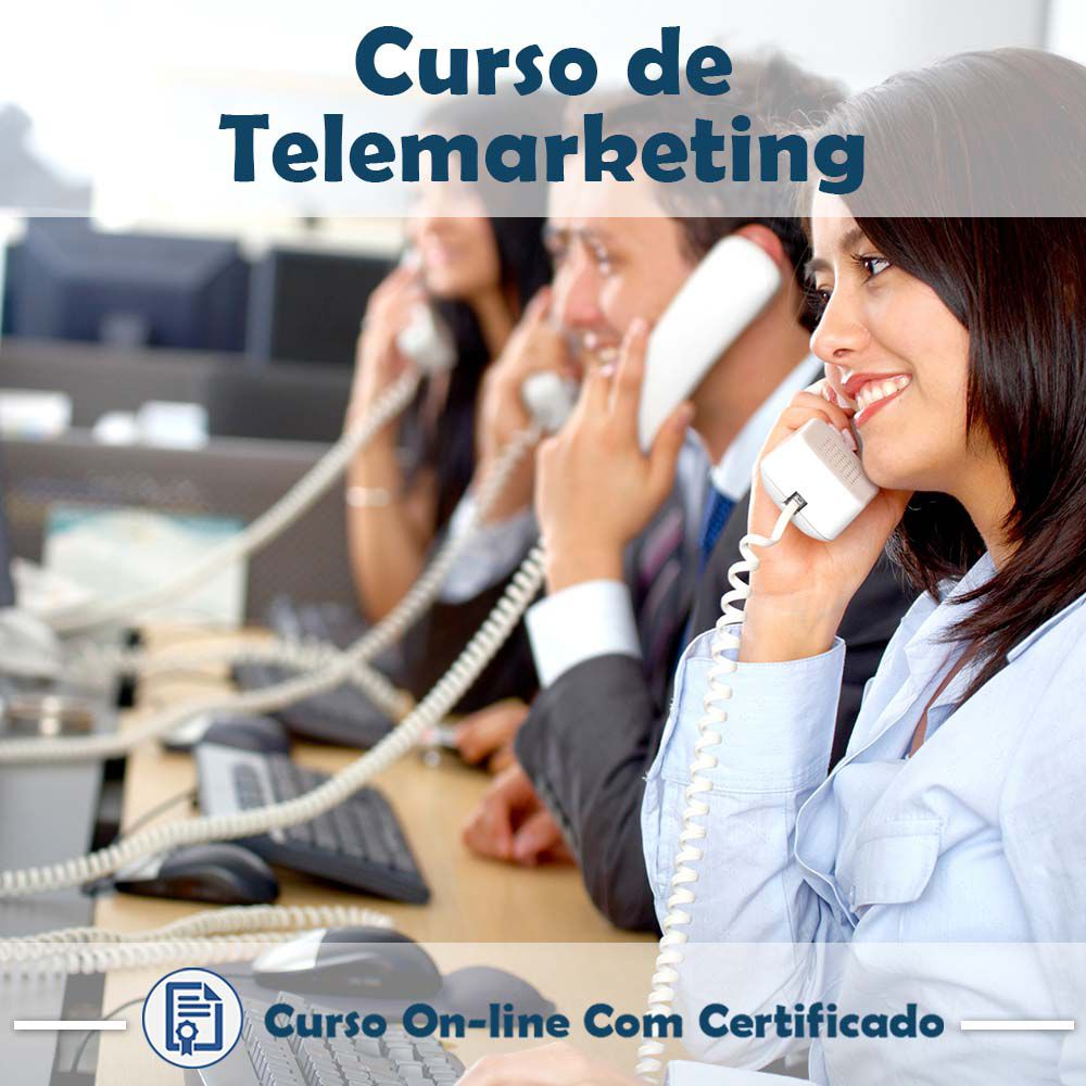 Curso Online de Telemarketing com Certificado