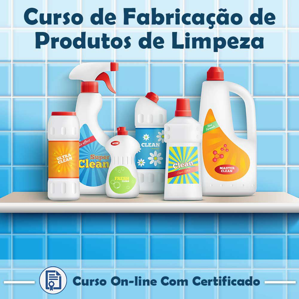 Curso Online de Fabricação de Produtos de Limpeza com Certificado  - Aprova Cursos