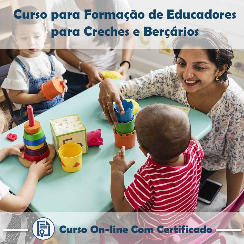 Curso Online de Formação de Educadores para Creches e Berçários com Certificado  - Aprova Cursos