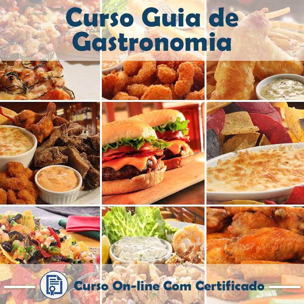 Curso online Guia de Gastronomia + Certificado  - Aprova Cursos