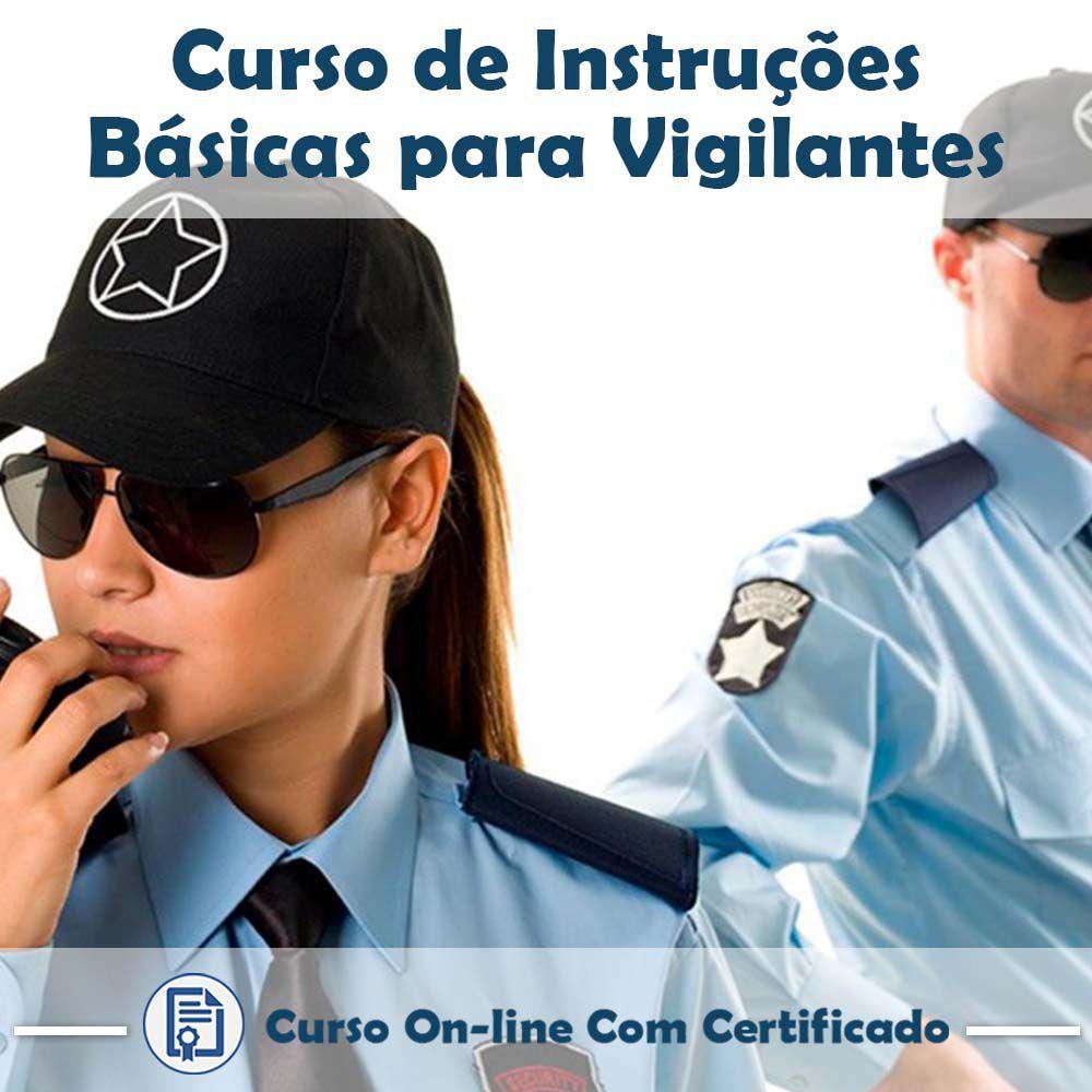 Curso Online de Instruções Básicas de Vigilantes com Certificado  - Aprova Cursos