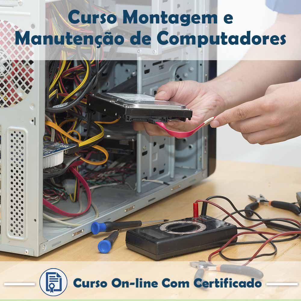 Curso online de Montagem e Manutenção de Computadores + Certificado