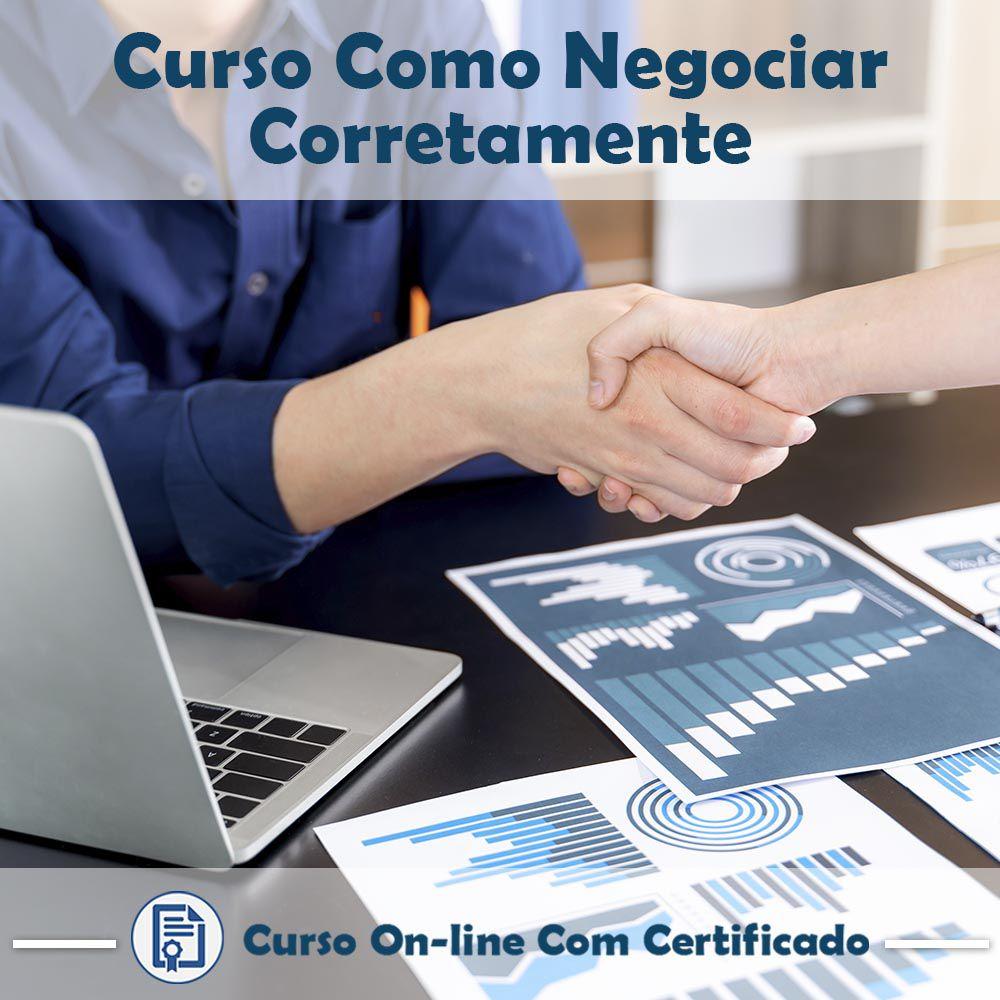 Curso Online de Como Negociar Corretamente com Certificado  - Aprova Cursos