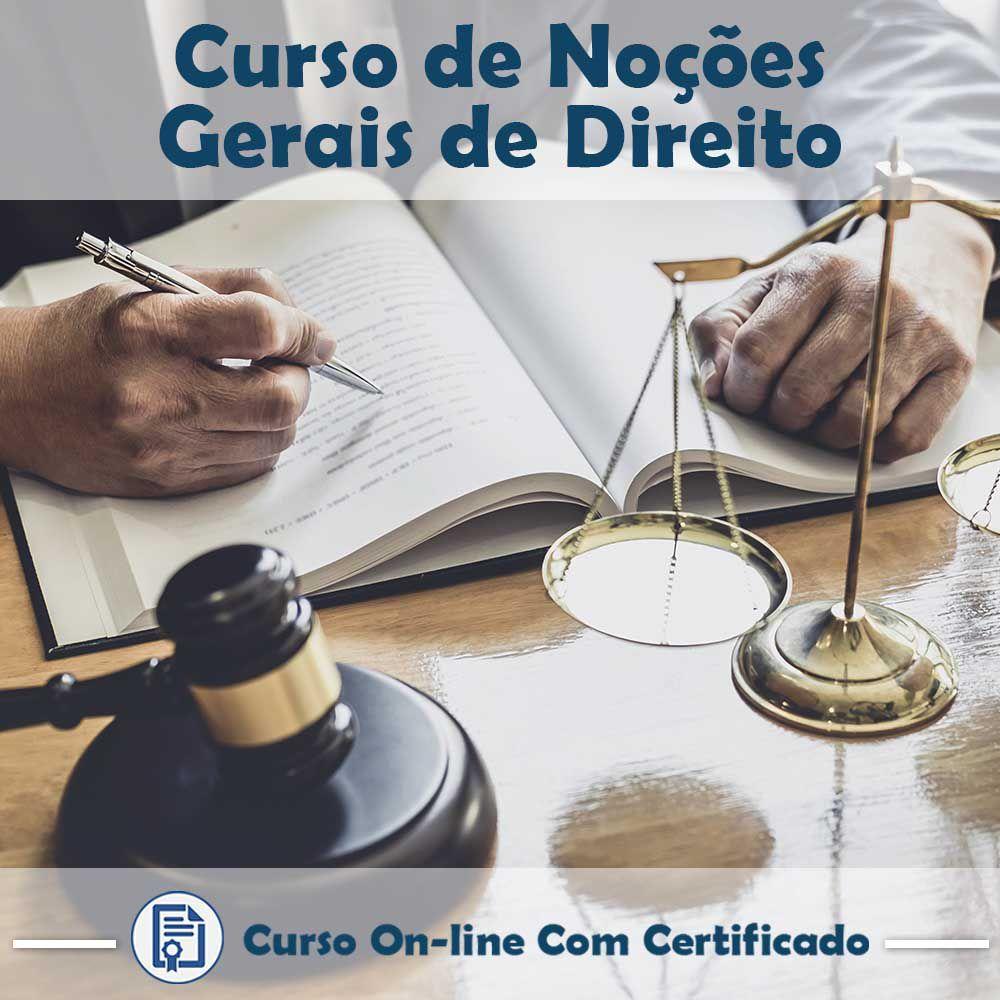 Curso online de Noções Gerais de Direito + Certificado  - Aprova Cursos