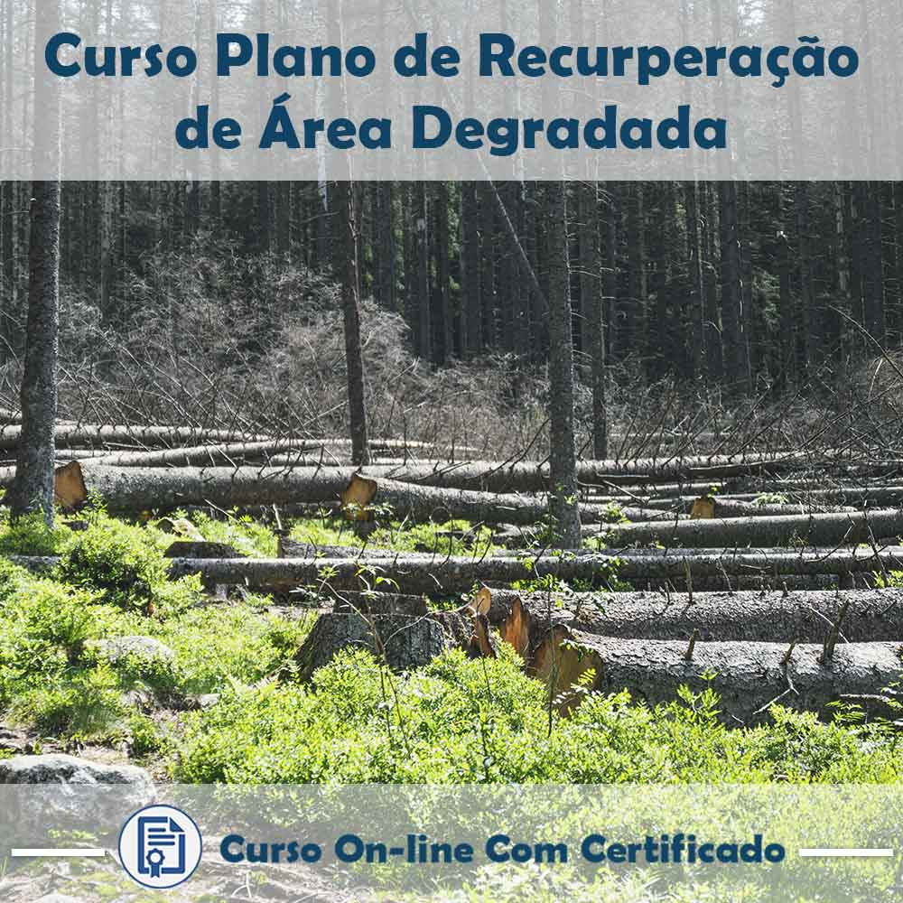 Curso Online de Plano de Recuperação de Área Degradada com Certificado  - Aprova Cursos