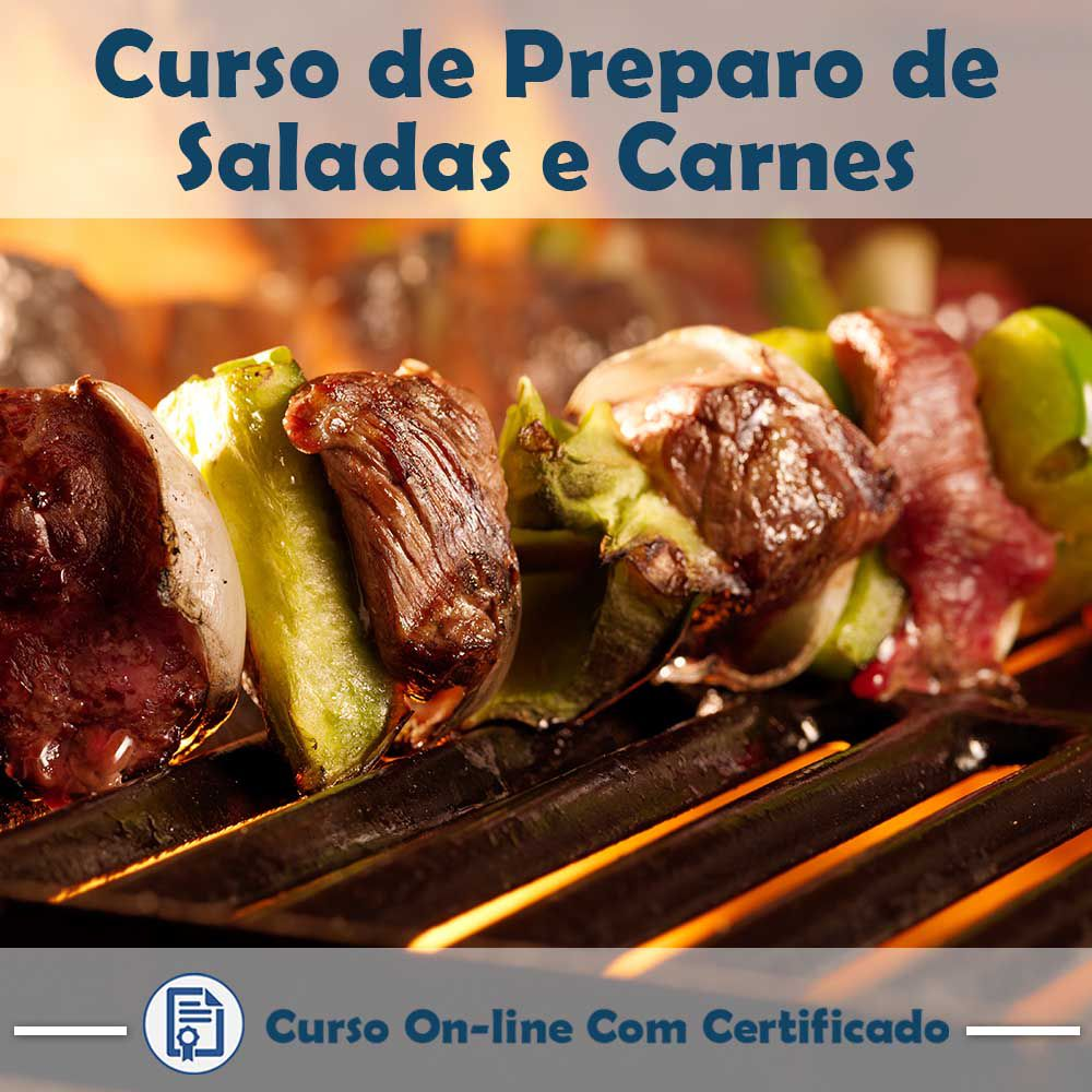 Curso Online de Preparo de Saladas e Carnes para o Churrasco com Certificado