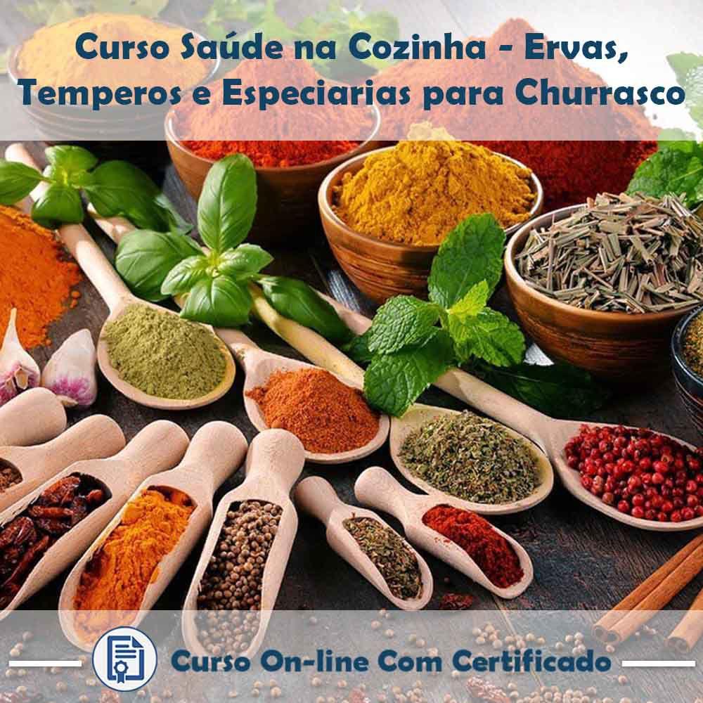 Curso Online de Saúde na Cozinha: Temperos, Especiarias e Ervas Aromáticas com Certificado