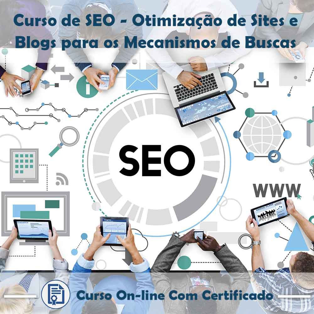 Curso Online de SEO: Otimização de Site/Blog para os Mecanismos de Buscas com Certificado