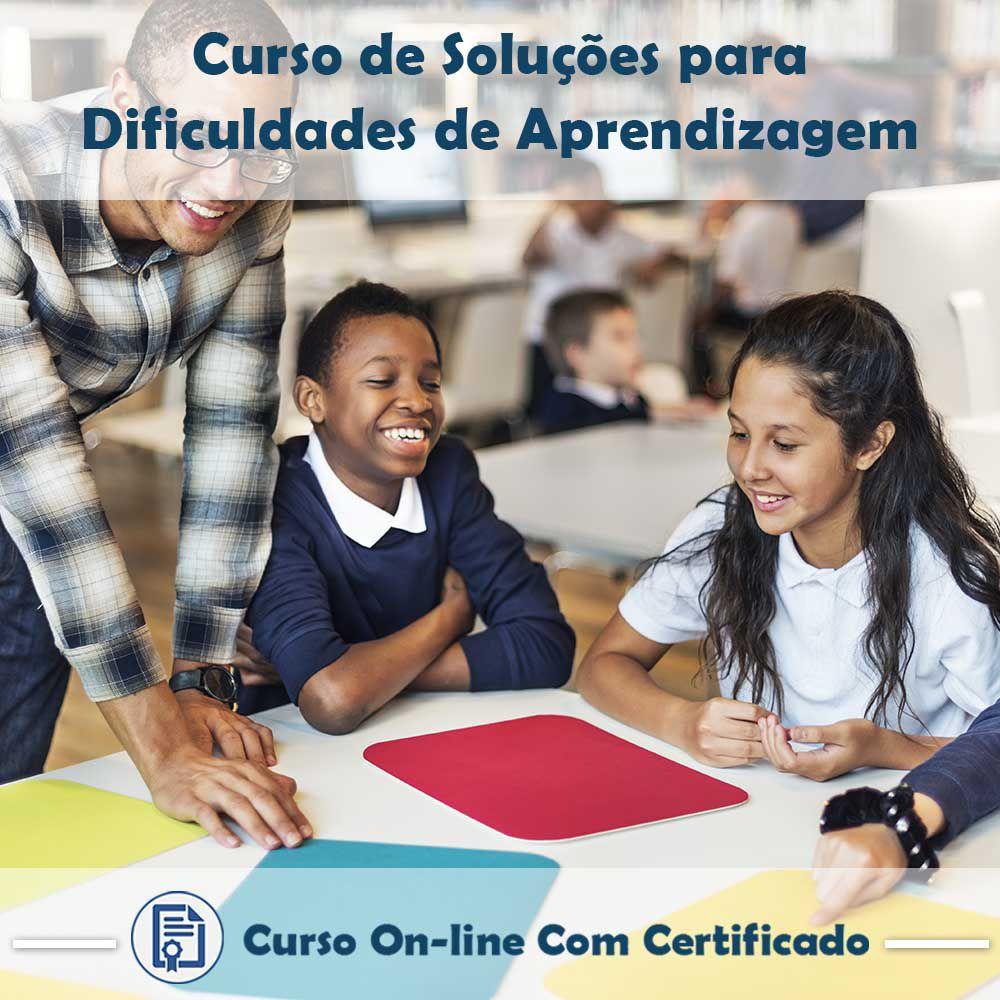 Curso Online de Soluções para Dificuldades de Aprendizagem com Certificado  - Aprova Cursos