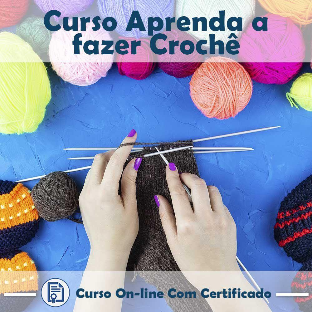 Curso online em videoaula básico de como fazer Crochê com Certificado  - Aprova Cursos