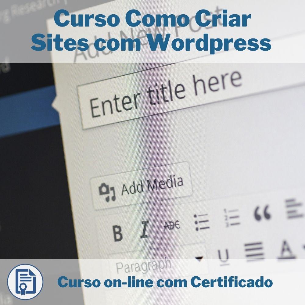 Curso Online em videoaula Como Criar Sites com Wordpress com Certificado