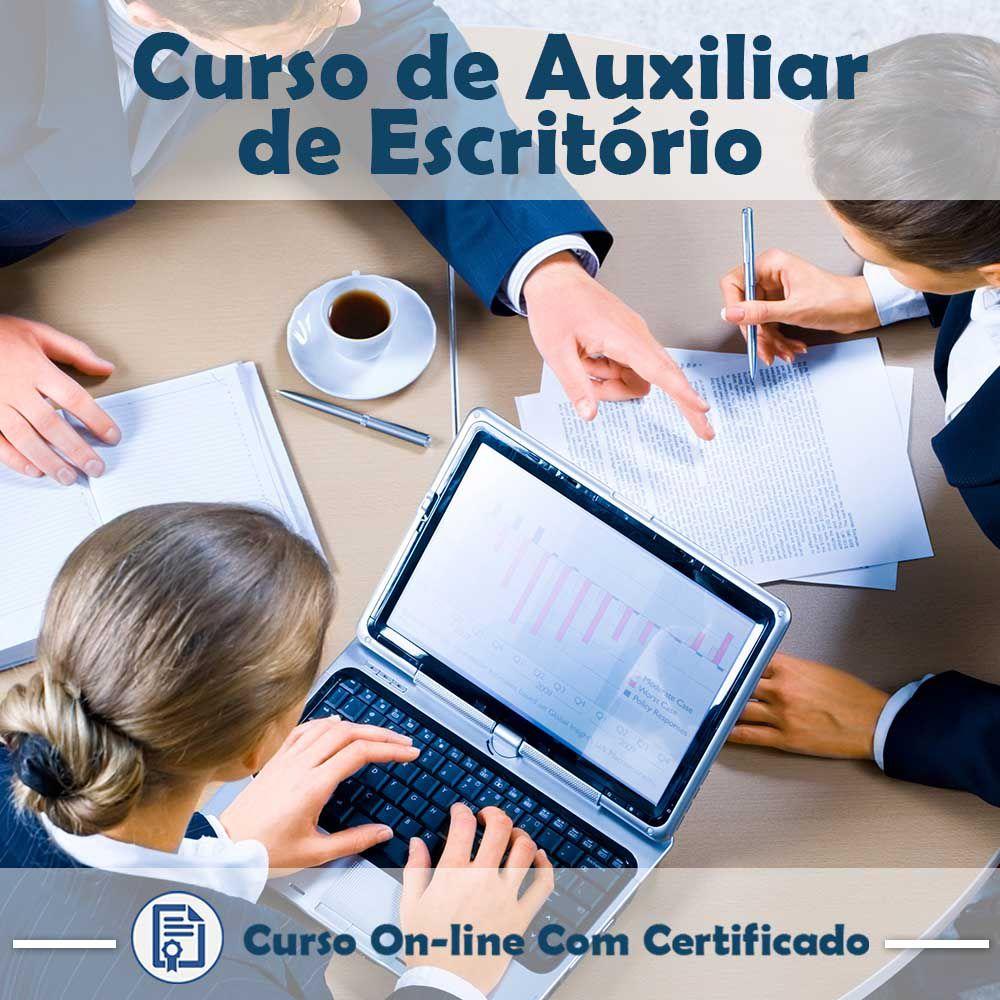 Curso online em videoaula de Auxiliar de Escritório na Prática com certificado  - Aprova Cursos