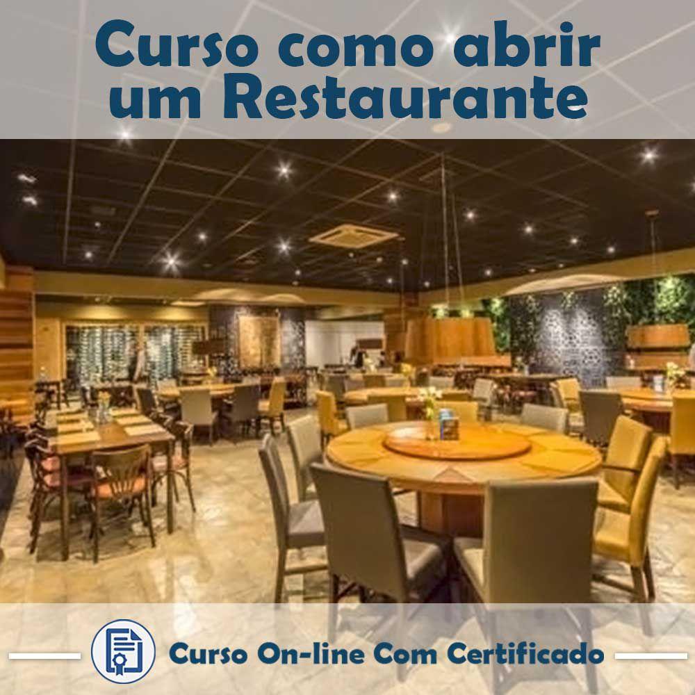 Curso online em videoaula de Como Abrir um Restaurante com Certificado
