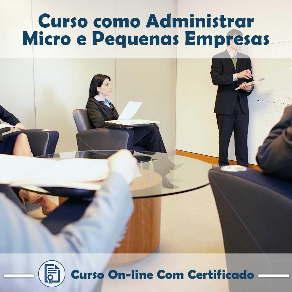 Curso online em videoaula de Como Administrar Micro e Pequenas Empresas com Certificado