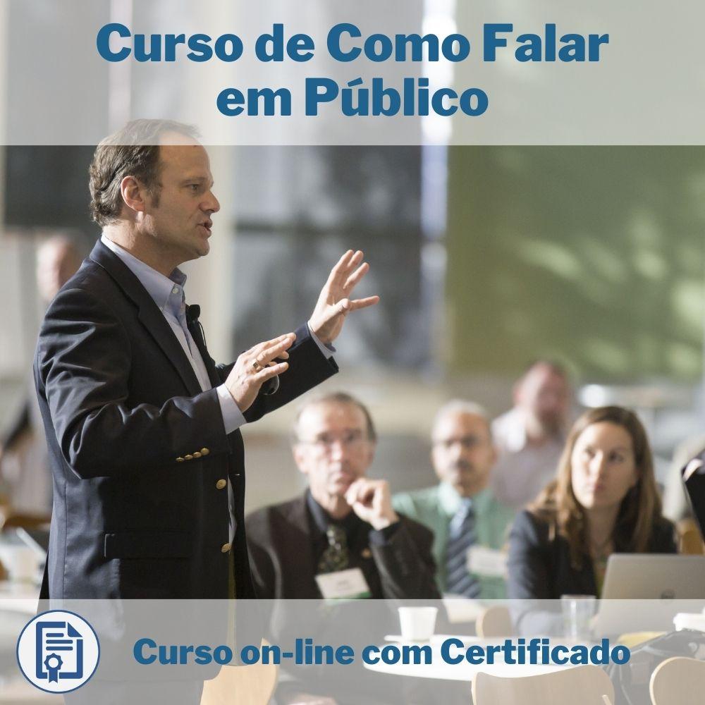 Curso Online em videoaula de Como Falar em Público com Certificado